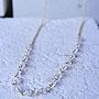 天然石ゴールドネックレス01『ロングクリスタル』 「天然石ネックレス」
