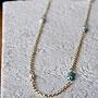 天然石ゴールドネックレス08『エンクラスト トルコ石』
